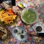 Pique-nique gaspacho de petits pois, melon, fromages vegan Jay&Joy, beurre de mangue